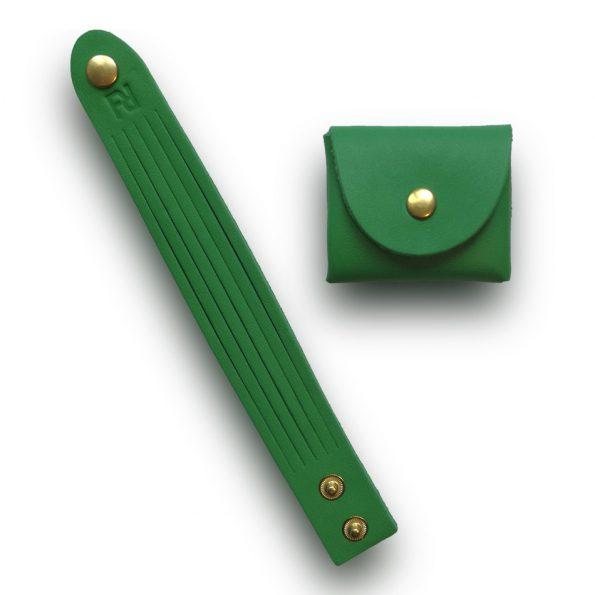 bracelet+bourse vert jaune